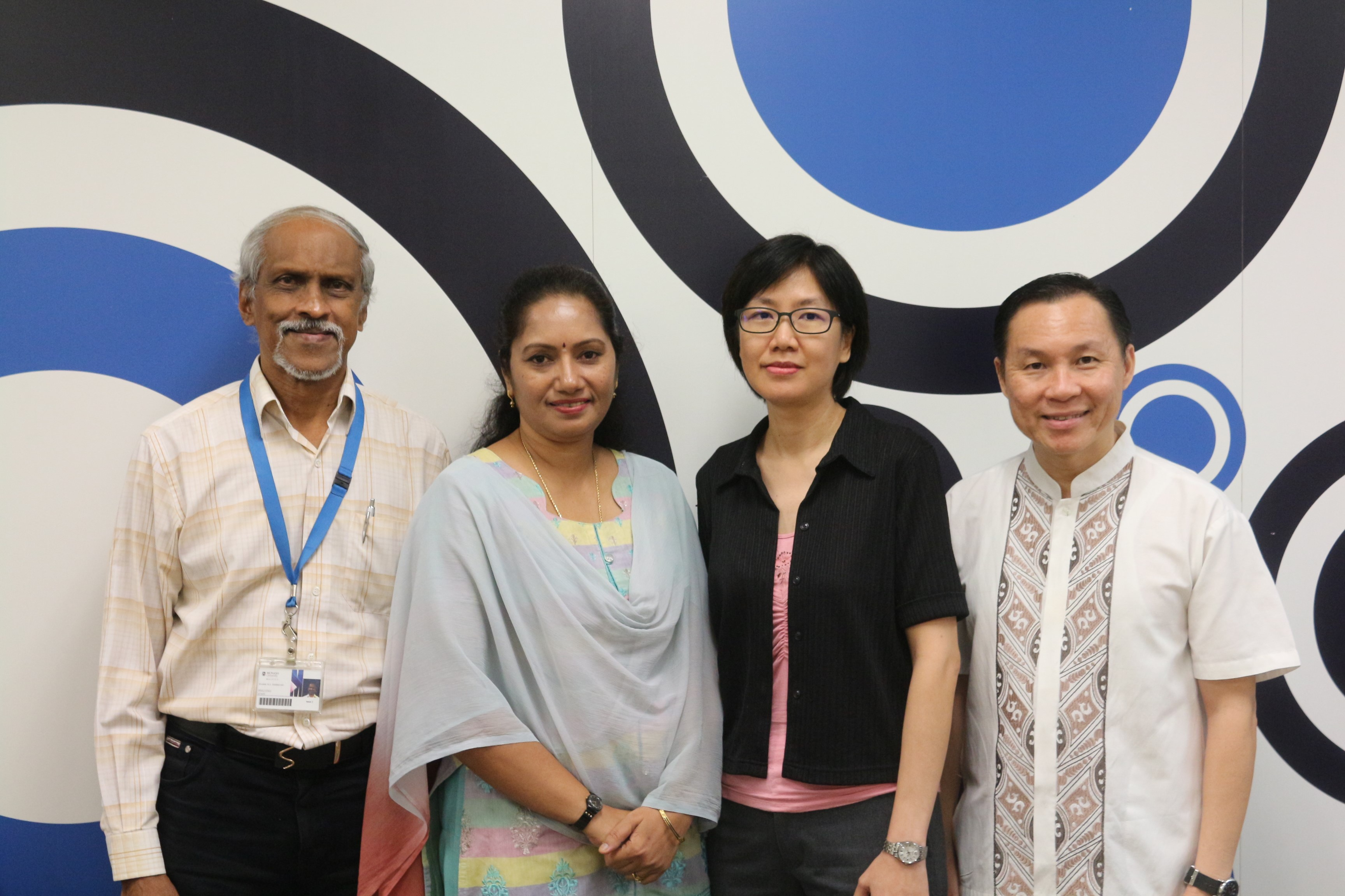 Malaysian team (from left to right): A/Prof Dr Sivalal Sivadasan, A/Prof Dr Amudha Kadirvelu, Dr Lee Chooi Yeng, Benny Efendie