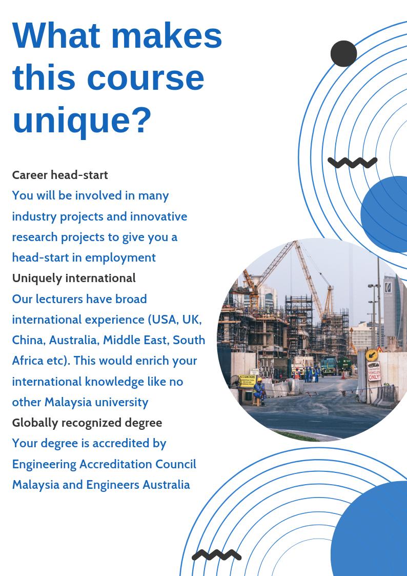 Civil Engineering Engineering Monash University Malaysia