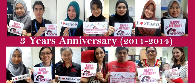 SEACO'S Birthday 3 years anniversary