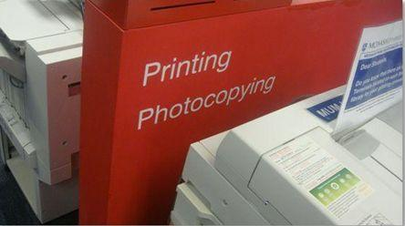 Printing sign