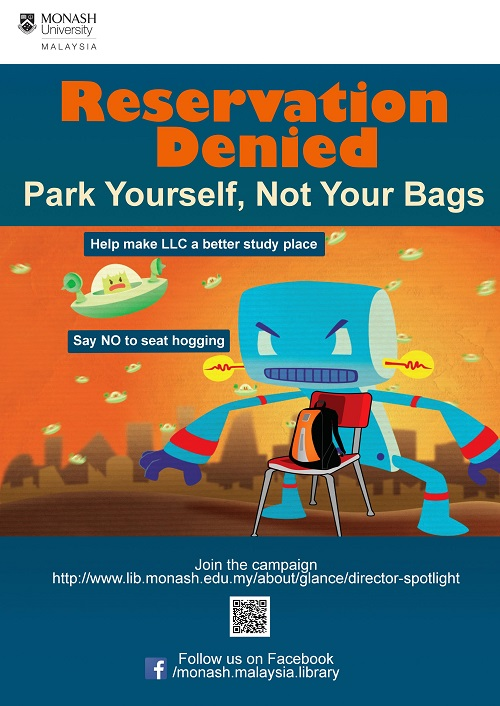 Park yourself, not your bags
