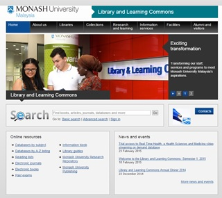 Library and Learning Commons new website