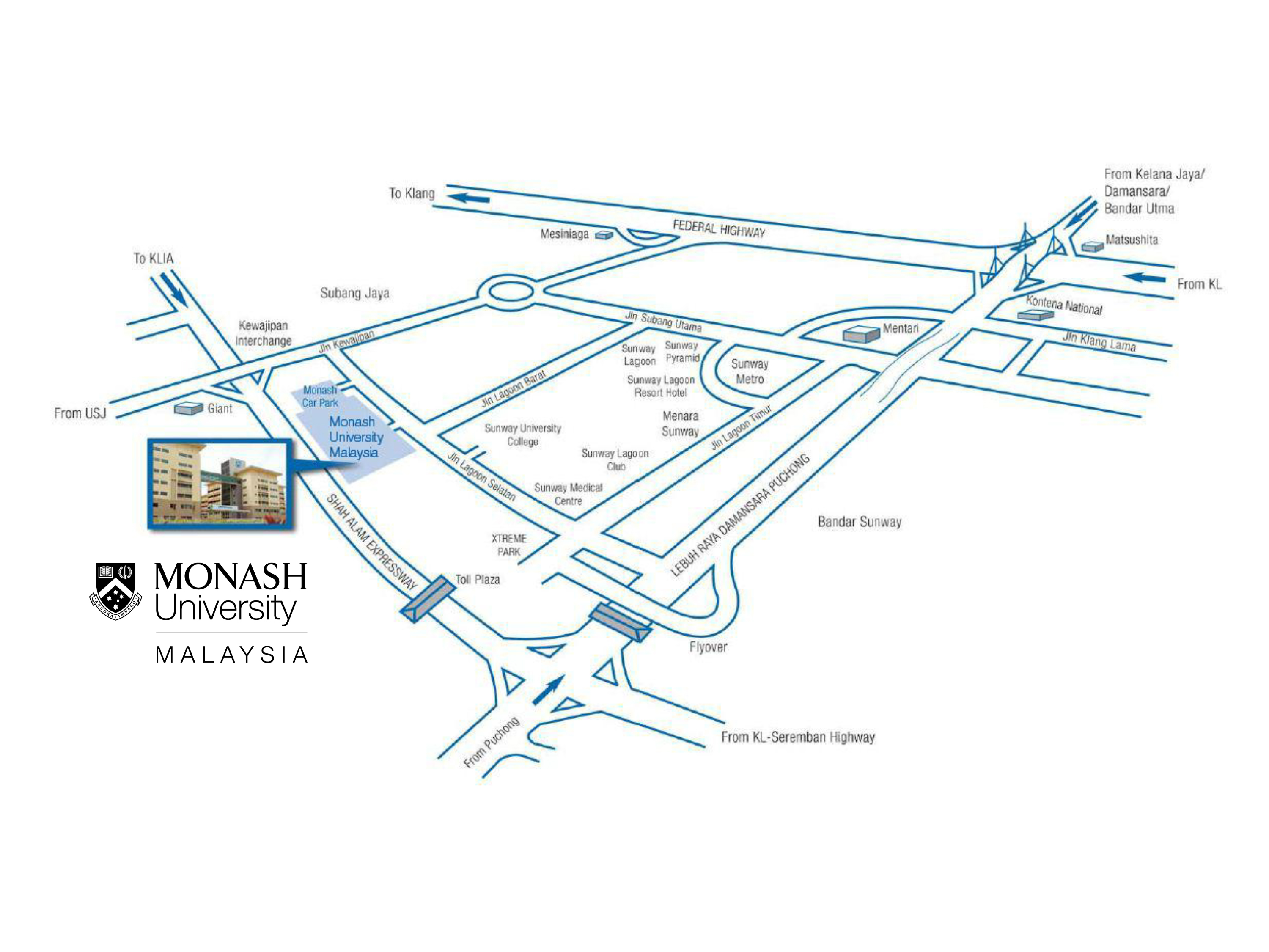 Meridian Community College Campus Map.Maps And Transport Monash University Malaysia