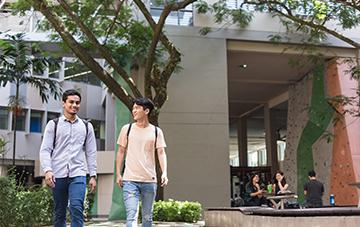 Students Walking in Monash University Malaysia