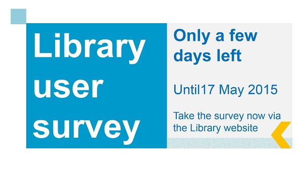 Library user survey 2015 teaser image
