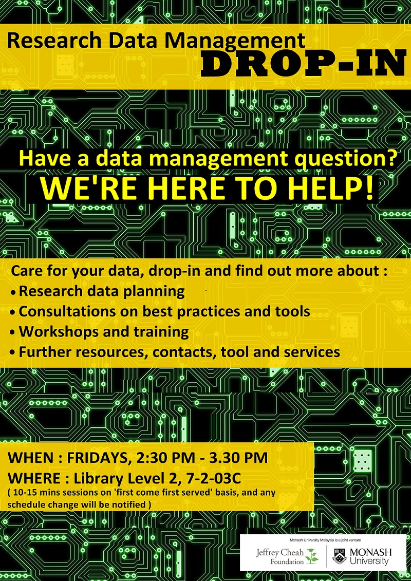 Research Data Management drop-in sessions
