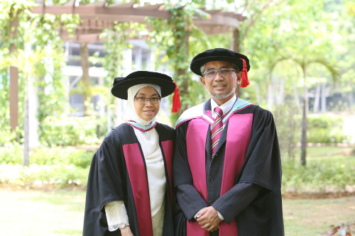Associate Professor Rafidah and Associate Professor Nor'azim