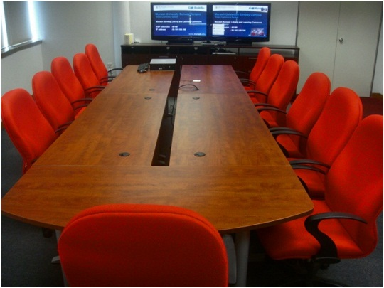 View of video conference room