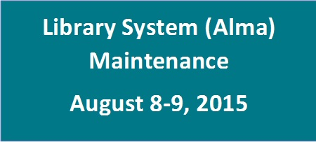 Alma Maintenance August 2015