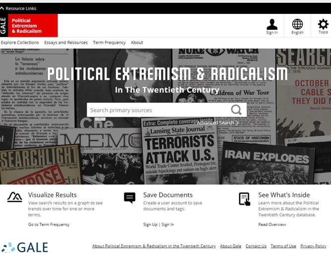 Political Extremism & Radicalism in the Twentieth Century: Far-Right and Left Political Groups in the U.S., Europe, and Australia. This trial is on until 27.07.2018