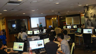 Interactive learning in the MUSSTLab - a first of it's kind in Malaysia.
